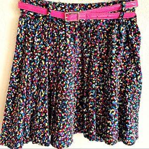 "D-Signed Girls Belt Skirt Multicolor Size ""S"""